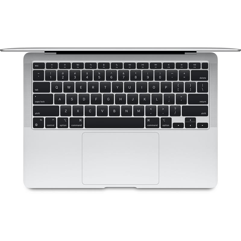 """Apple MacBook Air Silver, 13.3 """", IPS, 2560 x 1600, Apple M1, 8 GB, SSD 256 GB, Apple M1 7-core GPU, Without ODD, macOS, 802.11ax, Bluetooth version 5.0, Keyboard language English, Keyboard backlit, Warranty 12 month(s), Battery warranty 12 month(s), Retina with True Tone Technology"""