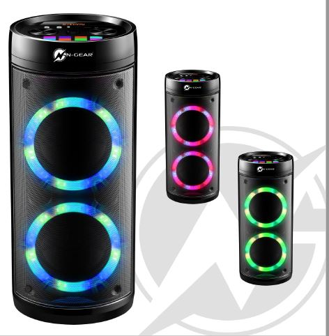 N-Gear Portable Bluetooth Speaker Let's Go Party Speaker 26R 600 W, Portable, Wireless connection, Black, Bluetooth