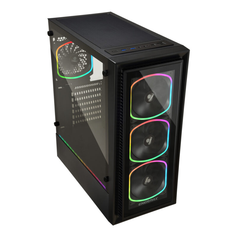 Enermax Computer Case StarryFrot SF30 Side window, Black, ATX, Power supply included No