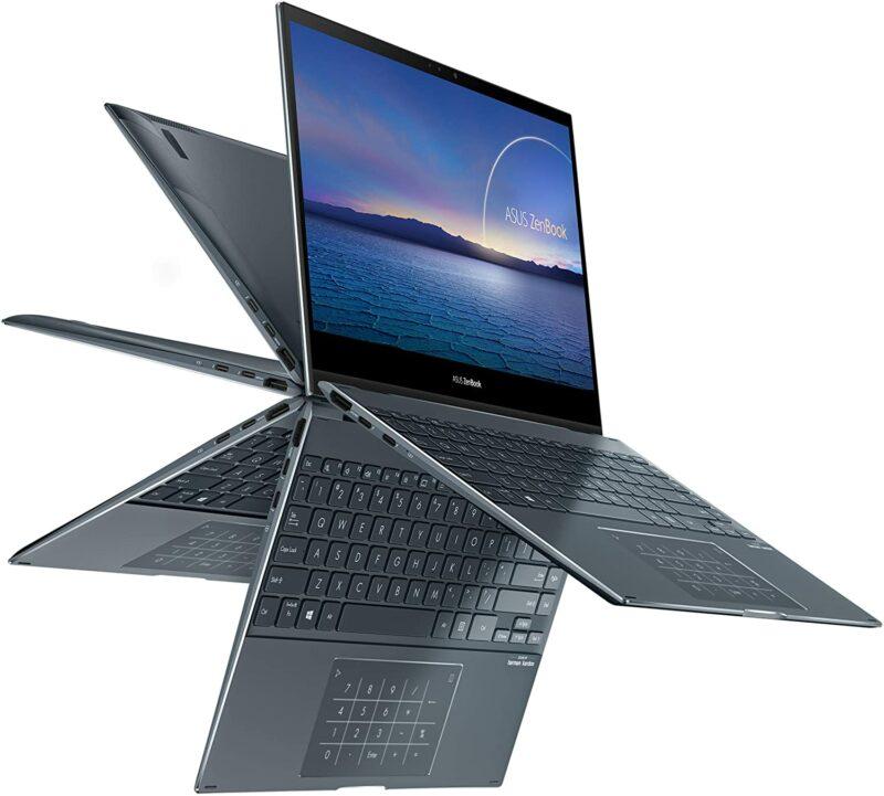 "Asus ZenBook Flip BX363JA-EM216R Pine Grey, 13.3 "", IPS, Touchscreen, FHD, 1920 x 1080 pixels, Glossy, Intel Core i5, i5-1035G4, 8 GB, LPDDR4X on board, SSD 512 GB, Intel Iris Plus, No ODD, Windows 10 Pro, 802.11ax, Bluetooth version 5.0, Keyboard language English, Keyboard backlit, Warranty 24 month(s), Battery warranty 12 month(s)"