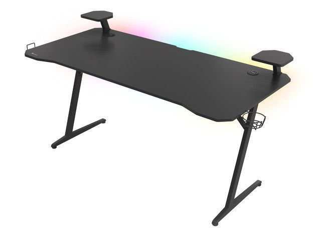 Genesis Gaming Desk Holm 510 RGB Headphone holder, Cup holder, Speaker shelf, Organizer cables, Black