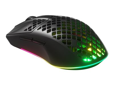 SteelSeries Gaming Mouse Aerox 3, Optical, RGB LED light, Black, Wireless