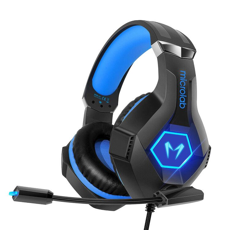 Microlab Gaming Headset G7 Built-in microphone, Black/Blue