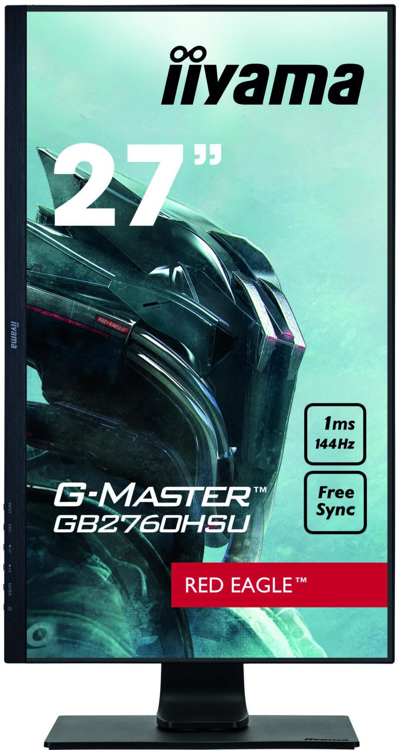"Iiyama Gaming Monitor G-Master GB2760HSU-B1 C 27 "", TN, 1920 x 1080 pixels, 16:9, 1 ms, 400 cd/m², Black, matte, HDCP, Headphone connector"