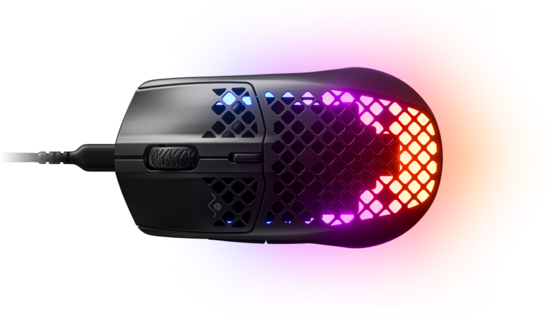 SteelSeries Gaming Mouse Aerox 3, Optical, RGB LED light, Black