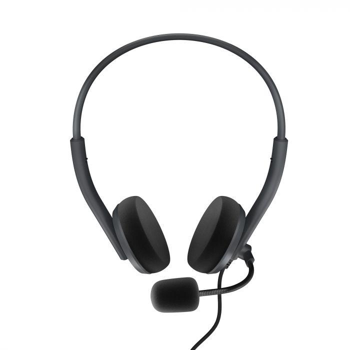 Energy Sistem Headset Office 2 Anthracite, On-ear, 3.5mm plug, retractable boom mic.