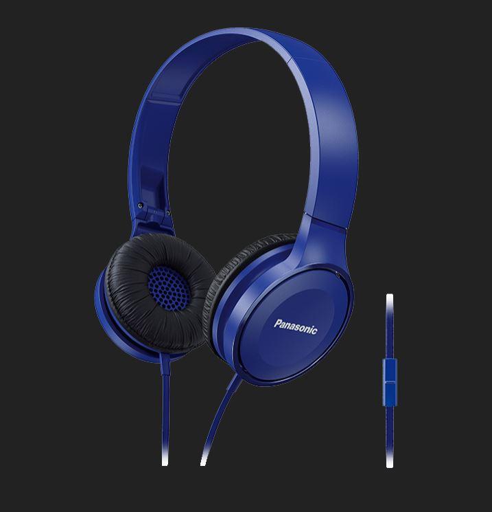 Panasonic Overhead Stereo Headphones RP-HF100ME-A Over-ear, Microphone, Blue