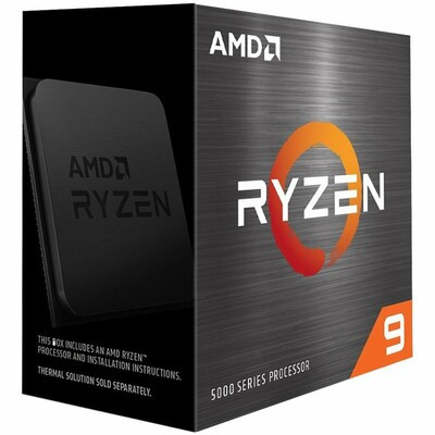 AMD Ryzen 9 5900X, 3.7 GHz, AM4, Processor threads 24, Packing Retail, Processor cores 12, Component for PC