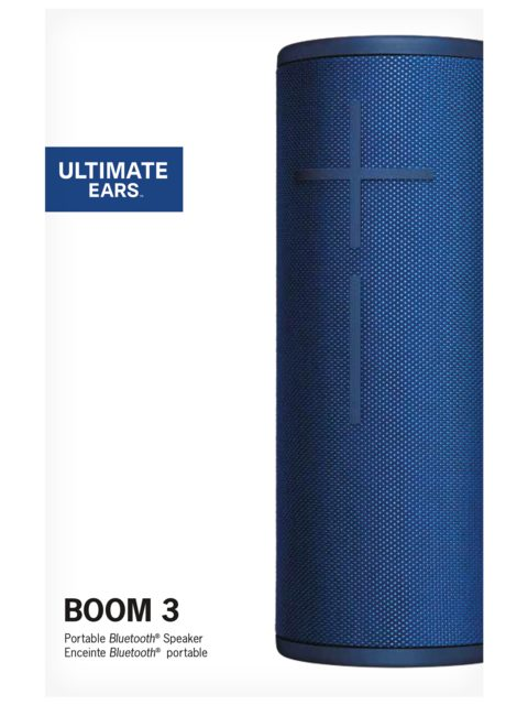 Logitech Bluetooth Speaker Ultimate Ears BOOM 3 Waterproof, Lagoon Blue