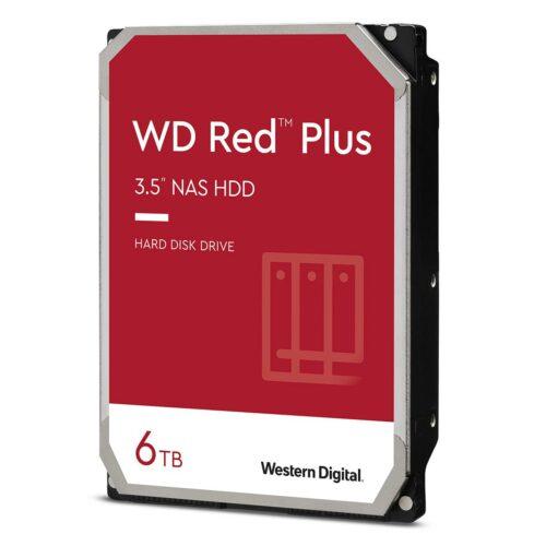 "Western Digital NAS Hard Drive Red Plus 5400 RPM, 3.5 "", 6000 GB"