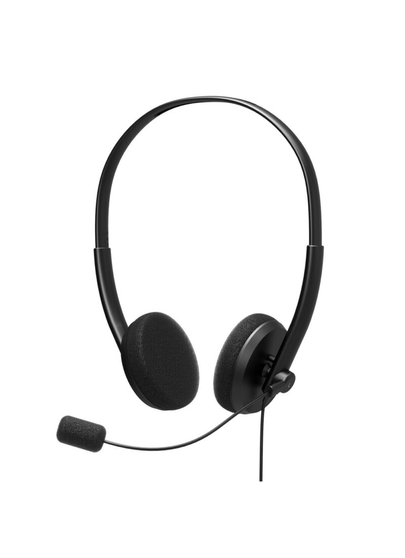 PORT DESIGNS Office USB Stereo Headset With Microphone Built-in microphone, Black, Over-Ear