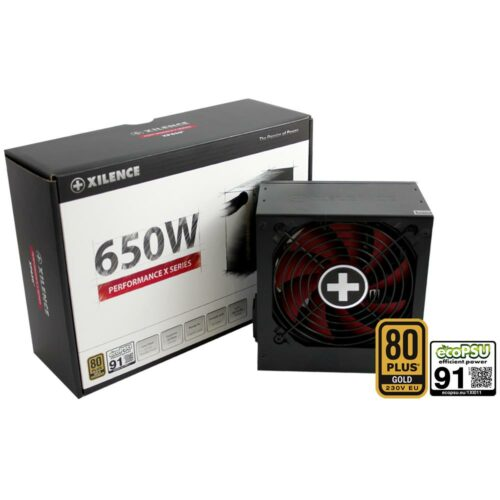 Power Supply|XILENCE|650 Watts|Efficiency 80 PLUS GOLD|PFC Active|XN072