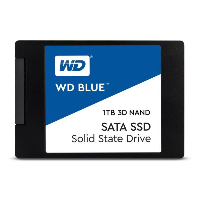 SSD WESTERN DIGITAL Blue 1TB SATA 3.0 TLC Write speed 530 MBytes/sec Read speed 560 MBytes/sec 2,5″ TBW 400 TB MTBF 1750000 hours WDS100T2B0A
