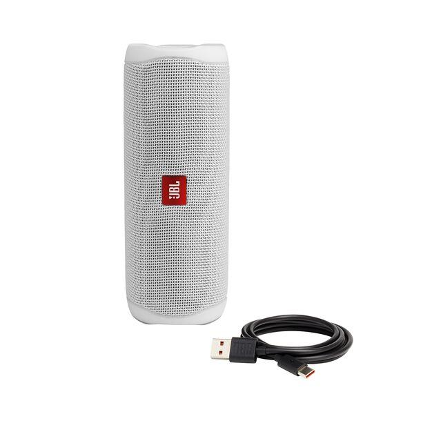 Portable Speaker|JBL|Flip 5|Portable/Waterproof/Wireless|Bluetooth|White|JBLFLIP5WHT