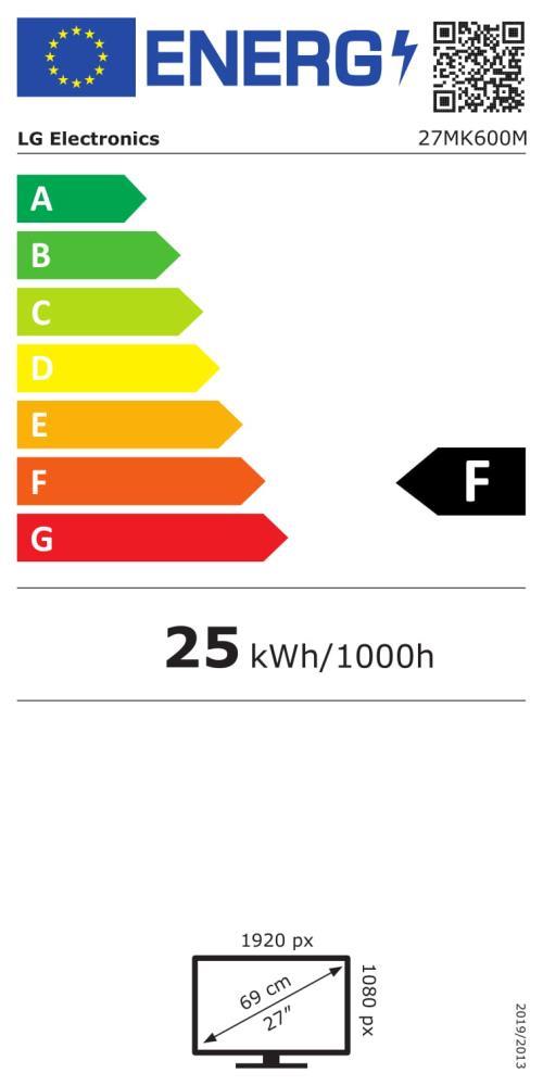 LCD Monitor|LG|27MK600M-B|27″|Panel IPS|1920×1080|16:9|5 ms|Tilt|27MK600M-B