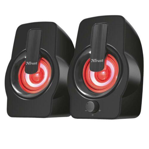 Speaker|TRUST|Gemi RGB|P.M.P.O. 12 Watts|1xAudio-In|Black|22948