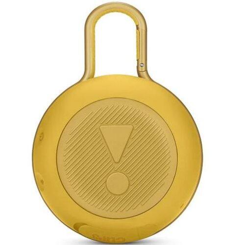 Portable Speaker JBL CLIP 3 Portable/Waterproof/Wireless 1xAudio-In 1xMicro-USB Bluetooth Yellow JBLCLIP3YEL