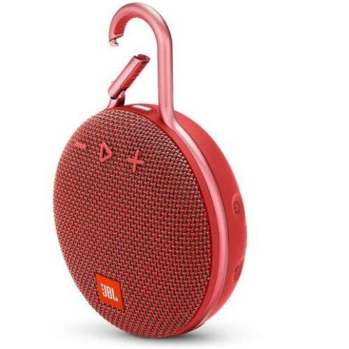 Portable Speaker JBL CLIP 3 Portable/Waterproof/Wireless 1xAudio-In 1xMicro-USB Bluetooth Red JBLCLIP3RED