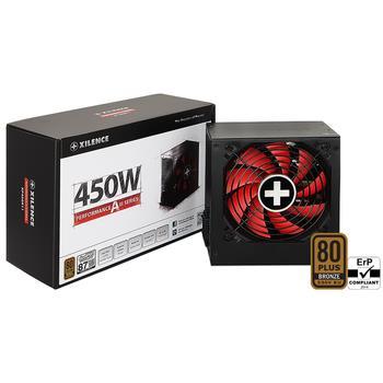 Power Supply|XILENCE|450 Watts|Efficiency 80 PLUS BRONZE|PFC Active|XN081