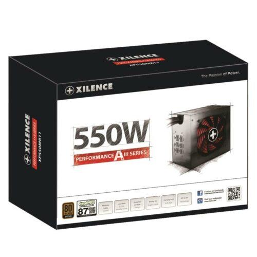 Power Supply|XILENCE|550 Watts|Efficiency 80 PLUS BRONZE|PFC Active|XN083