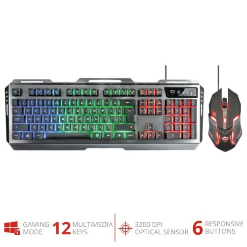 KEYBOARD +MOUSE OPT. GXT 845/TURAL 22457 TRUST