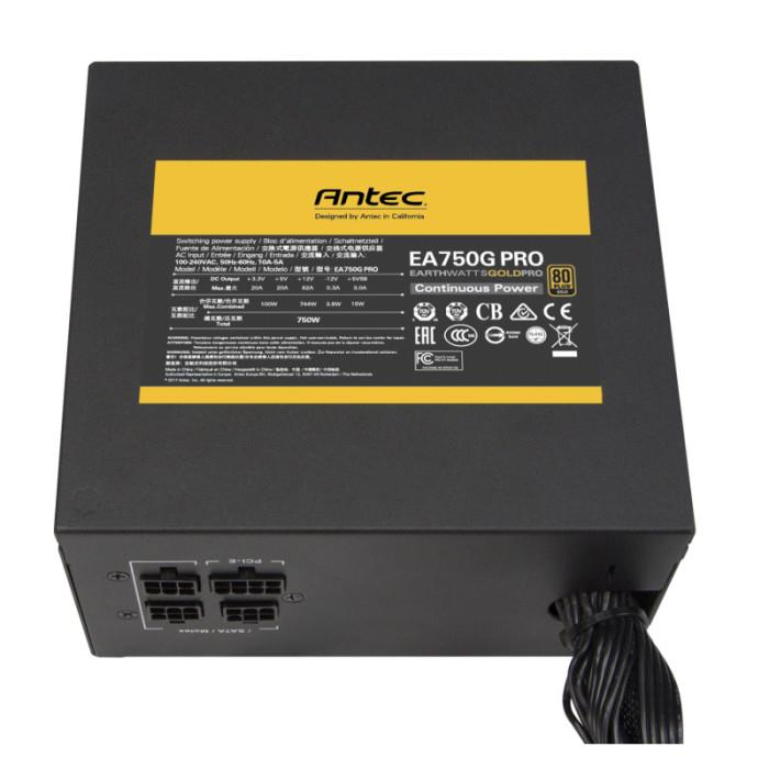 Power Supply|ANTEC|750 Watts|Efficiency 80 PLUS GOLD|PFC Active|0-761345-11622-0
