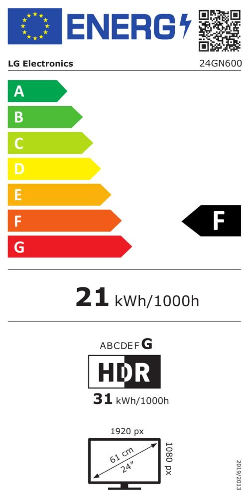 LCD Monitor|LG|24GN600-B|24″|Gaming|Panel IPS|1920×1080|16:9|144Hz|Matte|1 ms|Tilt|24GN600-B