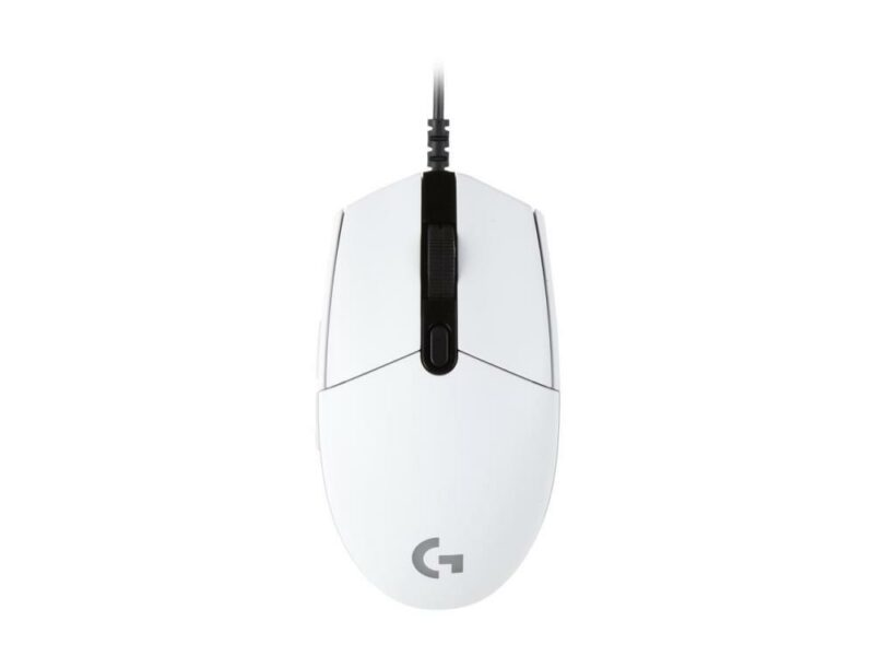 MOUSE USB OPTICAL G203/WHITE 910-005797 LOGITECH