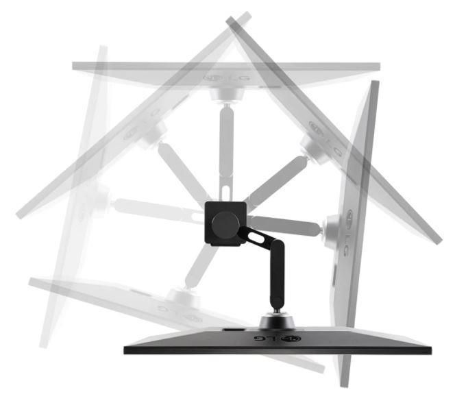 LCD Monitor|LG|27UN880-B|27″|4K|Panel IPS|3840×2160|16:9|60Hz|Matte|5 ms|Speakers|Swivel|Pivot|Height adjustable|Tilt|Colour Black|27UN880-B