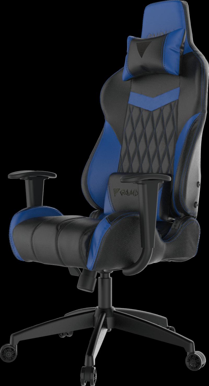 Gamdias Gaming chair Achilles E2-L, Black/Blue. Adjustable backrest and handlebars.  Gamdias