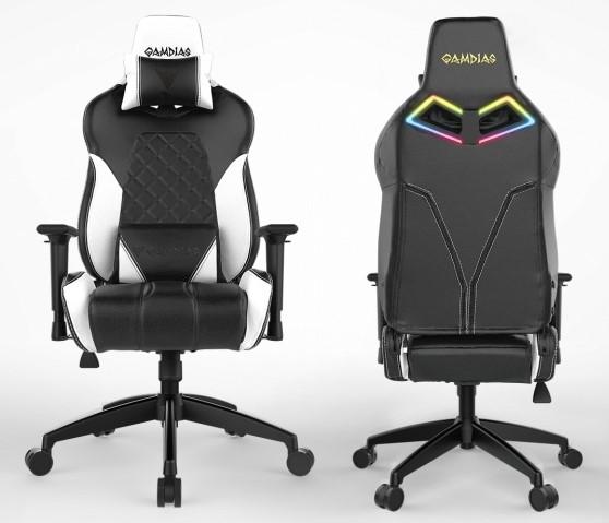 Gamdias Gaming Chair,  Achilles E3 L BW, Black/ white