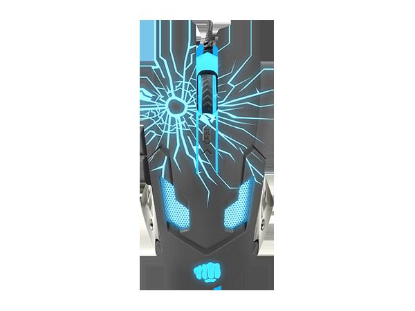 Fury Gladiator OPTICAL [3200DPI], RGB LED light, Black, Wired Optical Gaming Mouse