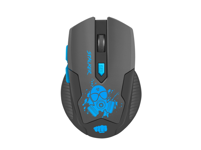 Fury Gaming mouse Stalker Wireless, Black/Blue