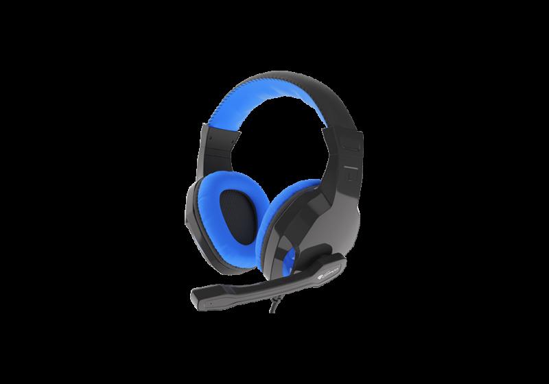 Genesis Gaming Headset, 3.5 mm, ARGON 100, Blue/Black, Built-in microphone