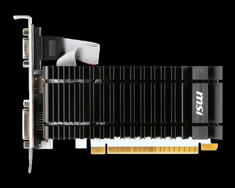 MSI N730K-2GD3H/LP NVIDIA, 2 GB, GeForce GT 730, DDR3, PCI Express 2.0, HDMI ports quantity 1, Memory clock speed 1600 MHz, DVI-D ports quantity 1, VGA (D-Sub) ports quantity 1, Processor frequency 902 MHz