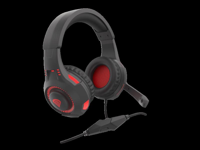 GENESIS RADON 200 Gaming Headset , Wired, Black/Red