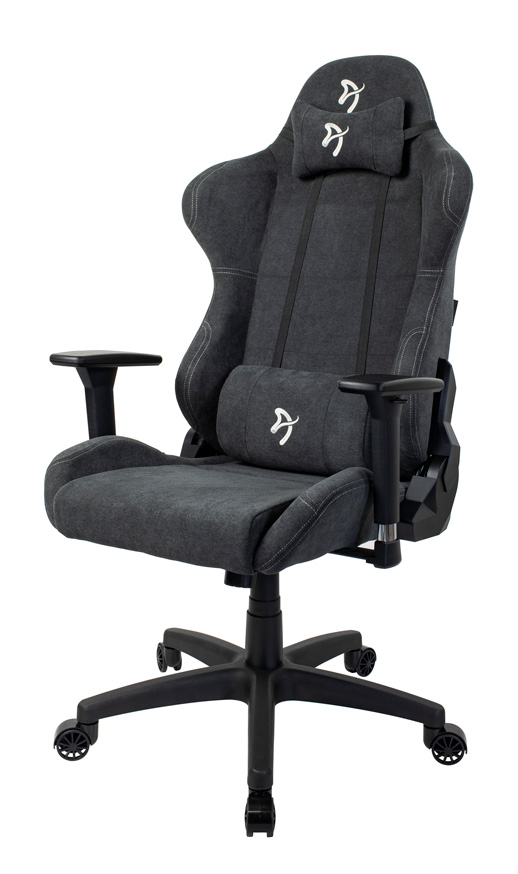 Arozzi Gaming Chair, Torretta Soft Fabric, Dark Grey