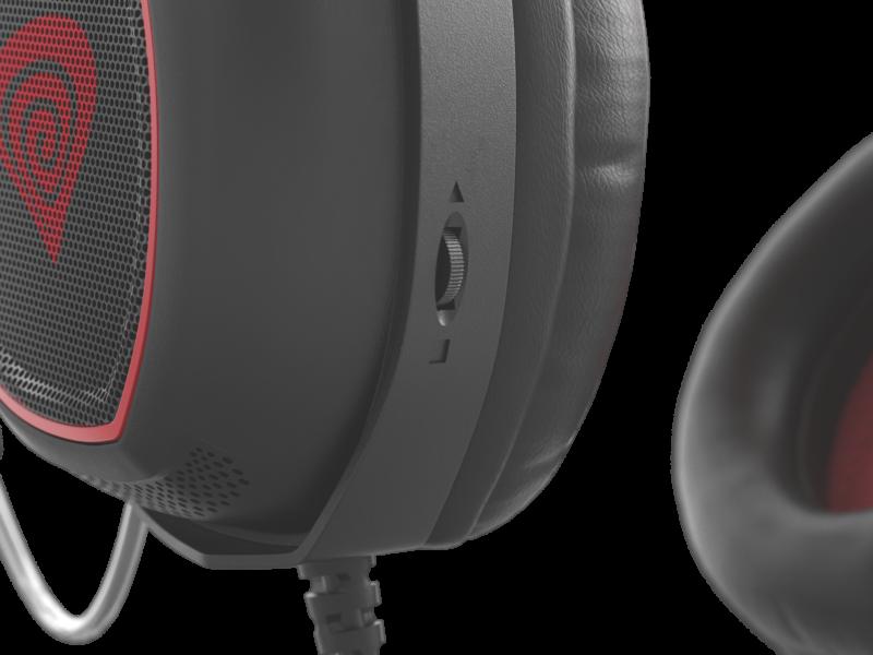 Genesis RADON 300 Gaming Headset, Built-in microphone, Black/Red