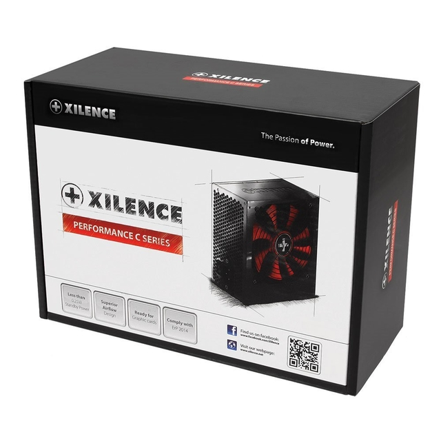 Power Supply|XILENCE|550 Watts|Peak Power 700 Watts|PFC Active|XN046