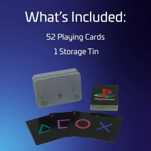 Playing Cards in Metal Case – PlayStation (PS1 Edition)