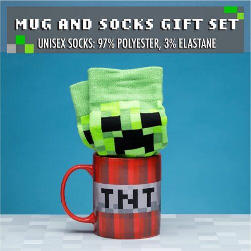 Gift Set: Minecraft – TNT & Creeper Mug and Sock Set