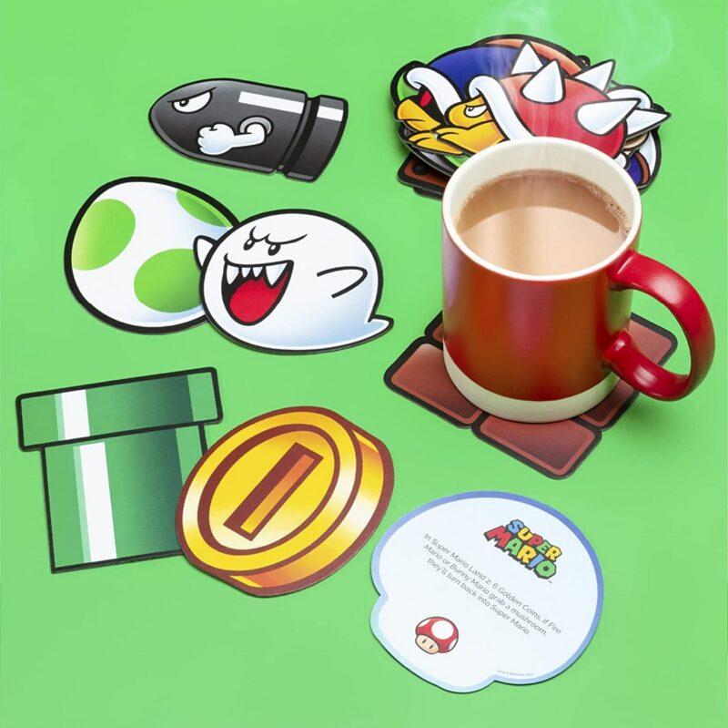 Super Mario – Fun Fact Coasters, 20 Pieces