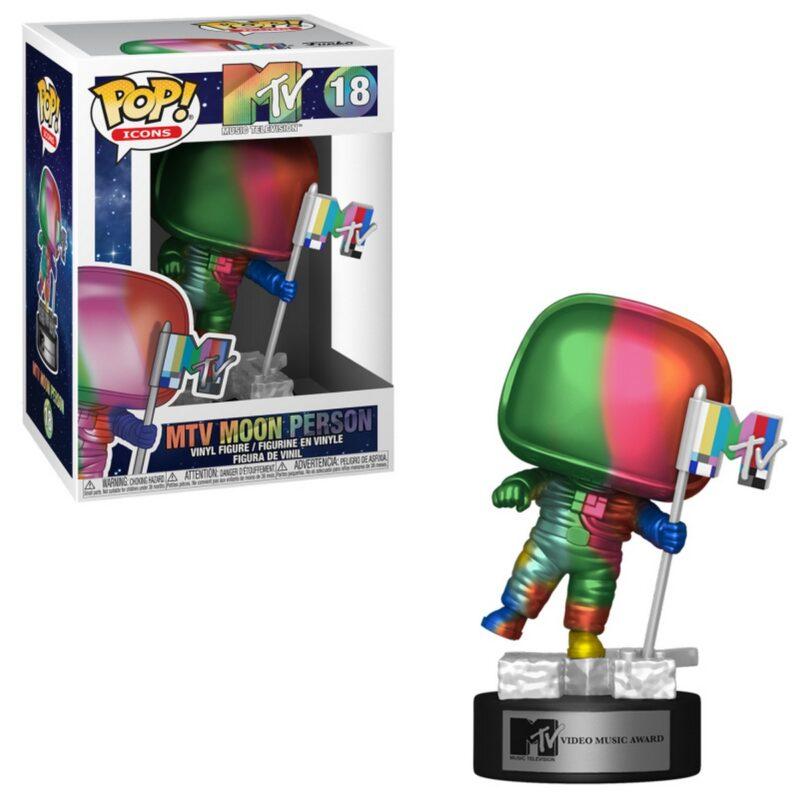 POP! Ad Icons: MTV – Moon Person (Rainbow) Vinyl Figure