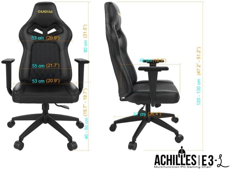 Private: Gamdias Gaming chair,  ZELUS E1 L, Black
